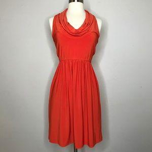 🌻SALE Judith March Burnt Orange Cowl Neck Dress S